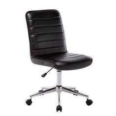 Porthos Home Office Chair, Adjustable Height & PU Leather Upholstery (Faux Leather), Black Adjustable Office Chair, Ergonomic Office Chair, Rolling Office Chair, Conference Chairs, Thing 1, Better Posture, Home Office Chairs, Business Furniture, Furniture For Small Spaces