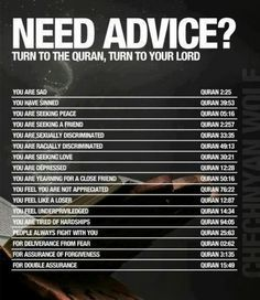 Turn to the Quran, Turn to your Lord. This is the manual book for mankind.