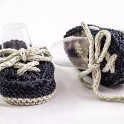 Baby Boat Shoes/ Booties - via @Craftsy