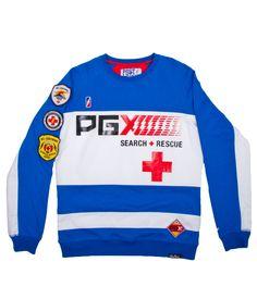 S And R Safety Raglan Crewneck Sweatshirt Blue | Post Game NYC
