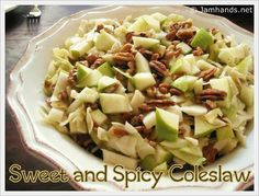 Easy sweet n spicey Apple n pecan coleslaw