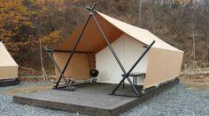 글램핑 _ 모아글램핑 Camping Resort, Camping Glamping, Luxury Camping, Tent Living, Outdoor Living, Tent Design, House Design, Wall Tent, Camping Survival