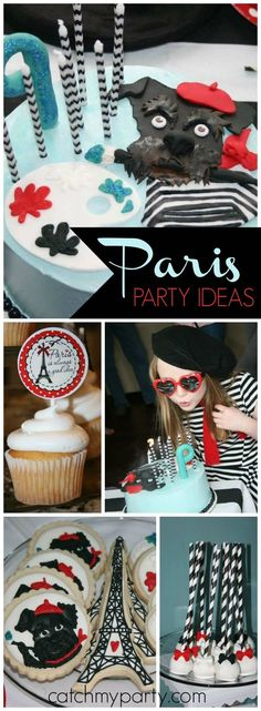 How fun is this Paris Schnauzer art party?! See more party ideas at CatchMyParty.com!