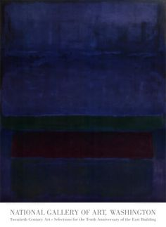 Blue, Green, and Brown by Mark Rothko. Does it make you weep the tragedy of humanity?