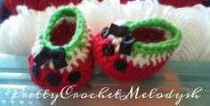 Watermelon baby shoes crochet