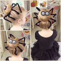 Halloween kids spider bun