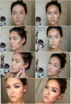 eye makeup - Cream Contouring 101 with Motives Fire Palette www loveshelbey com contour contouring Face Contouring, Contouring And Highlighting, How To Blend Contouring, Beginner Contouring, Best Contour Makeup, How To Contour Your Face, Contour Face, Make-up-tipps Und Tricks, Beauty Make Up