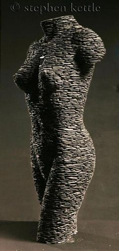 Stacked Slate Sculpture Sarah by Stephen Kettle