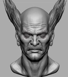 heihachi mishima by June Ho Cho on ArtStation. Iron Fist, Character Modeling, Zbrush, Art Reference, Sculpture Portrait, Character Design, June, Branding, Artwork