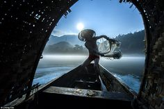 Traditional: Second place in the CGAP 2015 Photo Contest was handed to Chinese photographer Liming Cao for 'Fishing with a Net' showing tradtitional fishing techniques in China
