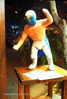 Wrestler on Menu Stand at Baja Takeria in San Pancho #BajaTakeria #San Pancho