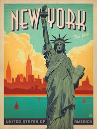 Resultado de imagen de new york poster retro
