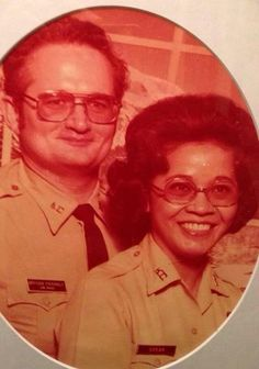 "Here is another picture submitted by one of our Facebook followers of his grandparents, Lewis and Sarah Spear, who both worked for KCPD. If you look closely at Lewis's badge, it says ""Officer Friendly!"""