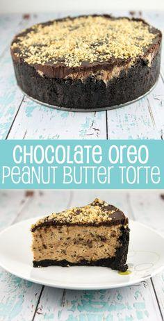 Chocolate Oreo Peanut Butter Torte: all your favorite things in one no-bake dessert. {Bunsen Burner Bakery}