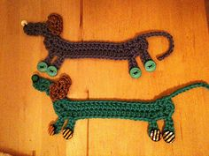 Dachsund bookmarks by Kwbcunning, via Flickr