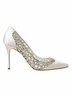 White Sergio Rossi Heels // Follow us on Instagram @thebohemianwedding #bohowedding #wedding #shoes