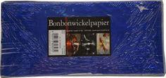 Bonbonwickelpapier Blau Aluminium ca. 10 Blatt