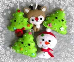 Christmas tree ornament, christmas decor, christmas gift, cute felt ornament, handmade ornament, xmas decor Felt is a very soft, pleasing and environmentally friendly material. Felt ornament look great in any room. This ornament will serve you for a long time, you can take it away and