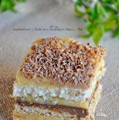 Romanian Desserts, Cake Recipes, Dessert Recipes, Homemade Cakes, Italian Recipes, Chocolate Cake, Sweet Treats, Good Food, Food And Drink