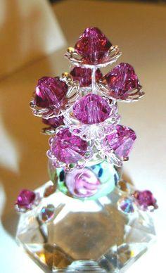 Swarovski Crystal Figurine Vase of Flowers Garden Path