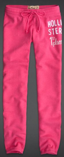 Hollister Hot Pink Sweat Pants