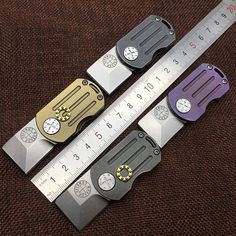 Tc4 Titanium Pocket Knife Clip New Cross Design Knife Button Bag Clip Edc Belt Flashlight K Overcoat Coat Multi Tool Accessories Tool Parts