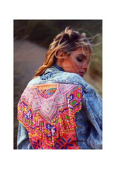 Jealous Lover Vintage Embellished Acid wash denim jacket | Elsie & Fred | ASOS Marketplace