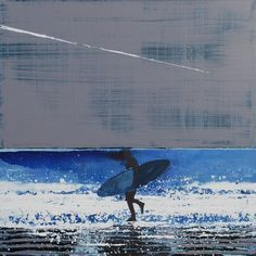 One of a series of stunning surfer paintings by Melanie McDonald, fantastic artist (and friend). If you like them, check out more at www.melaniemcdona...