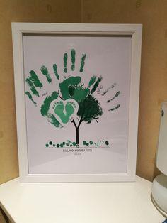 Syntymäpäivälahja äidille Handprint tree  birthdaypresent for mom