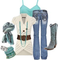 LOLO Moda: Stylish Women's Fashion Love the turquois, this outfit is cute Look Fashion, Girl Fashion, Fashion Outfits, Womens Fashion, Fashion Spring, Mode Outfits, Fall Outfits, Casual Outfits, Pretty Outfits