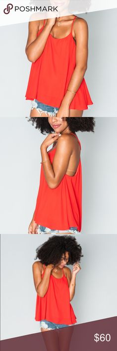 """⭐️NWT⭐️ SMYM Carson top in """"bonfire crisp"""" Brand new with tags! Lightweight and versatile Carson top from Show Me Your Mumu in a beautiful true red color. Size medium. I accept offers but please no trades!! Show Me Your MuMu Tops Tank Tops"""