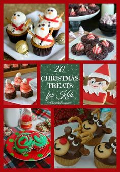 20 Christmas Treats for Kids with cookies, cupcakes and more! | http://ChaosIsBliss.com