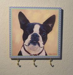 Boston Terrier Dog Leash Hook Key Hook Jewelry Hook by NoLimitsArt, $19.95
