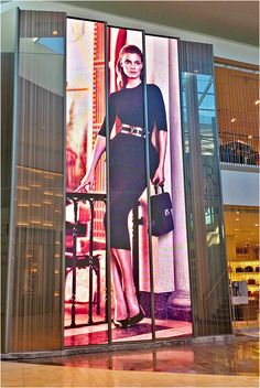 Holt Renfrew installs twin 29 foot high LED displays at their Yorkdale, Canada