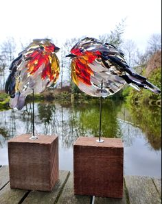Fused glass birds....beautiful
