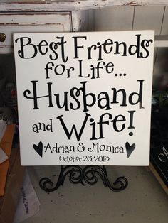 Bedtime Crafts ~ Crafting While the Littles are Sleeping Giveaway ends Nov Wedding Canvas, Monogram Wedding, Bridal Gifts, Wedding Gifts, Cricut Wedding, Wedding Cups, Best Friends For Life, Marrying My Best Friend, Chalkboard Signs