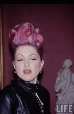 One of the strong women who inspired me to just be me: The beautiful Cyndi Lauper. Lover her hair. :)