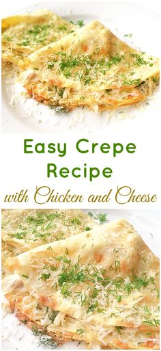 Filled with a mixture of chicken and cheese, this easy crepe recipe will make a…