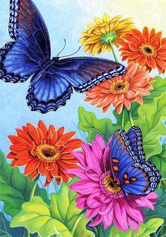 Бабочки и цветы - Схемы вышивки - 2009Gelya - Авторы - Портал «Вышивка крестом»