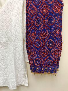 Simple Kurta Designs, Kurta Designs Women, Salwar Designs, Phulkari Embroidery, Hand Embroidery Dress, Hand Embroidery Designs, Phulkari Pants, Casual Indian Fashion, Function Dresses