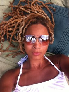 blonde locs :: Shop Loc Accessories at DreadStop. Ethnic Hairstyles, Dreadlock Hairstyles, African American Hairstyles, Cool Hairstyles, Beautiful Dreadlocks, Dreadlock Styles, Queen Hair, Natural Styles, Naturally Beautiful