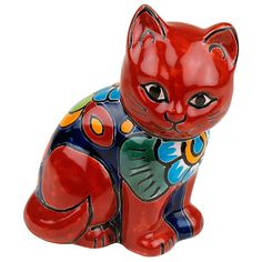 This little kitty is a great addition to your home! Handcrafted by skilled Talavera potters in the Puebla region of Mexico, this hand painted gem is ready to take its place in your collection. Only $18.90
