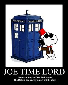 Nice to know the BBC has someone up to the task to step in whenever Matt Smith hands in his sonic screwdriver, bow tie, and fez. Especially the fez, because fezzes are cool.    One thing's for sure...Lucy will NOT be a companion.  Woodstock, definitely, but not Lucy.  No one wants a fussbudget on The Tardis.