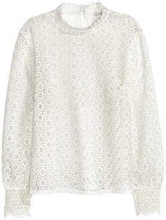 H&M - Lace Blouse - White - Ladies