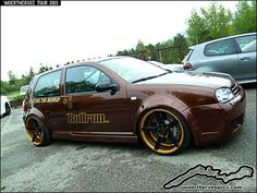 """Brown #VW Golf Mk4 """"Bullrun"""" on #Vossen wheels at the #Woerthersee Tour 2013"""