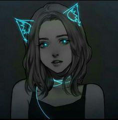 anime and art image Pretty Art, Cute Art, Anime Negra, Evvi Art, Digital Art Girl, Anime Art Girl, Dark Anime Art, Dark Art, Cool Drawings