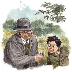 """Una de las ilustraciones de """"La lengua de las mariposas"""", de Manuel Rivas."""