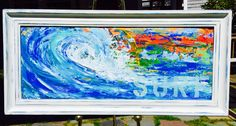 """""""Surf"""" - x abstract acrylic framed Acrylic Frames, Artworks, Surfing, Fine Art, Abstract, Artist, Painting, Surf, Artists"""