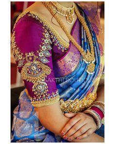Latest Trending Silk Saree Blouse Designs To make it easier f. - Latest Trending Silk Saree Blouse Designs To make it easier f… – Latest - Indian Blouse Designs, Blouse Back Neck Designs, Cutwork Blouse Designs, Wedding Saree Blouse Designs, Pattu Saree Blouse Designs, Hand Work Blouse Design, Stylish Blouse Design, Fancy Blouse Designs, Pattu Sarees Wedding