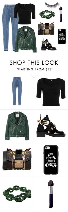 """""""casual girl"""" by lena-topouzi ❤ liked on Polyvore featuring Ksenia Schnaider, Topshop, MANGO, Balenciaga, Furla, Casetify, Plukka, By Terry and NYX"""